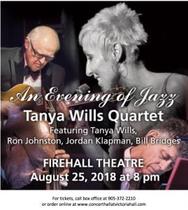 Tanya Wills Quartet FH @ Firehall Theatre | Cobourg | Ontario | Canada