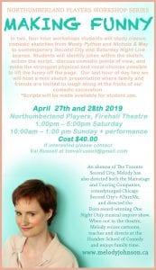 Workshop with Melody Johnson @ Firehall, 3rd floor Halligan Room   Cobourg   Ontario   Canada